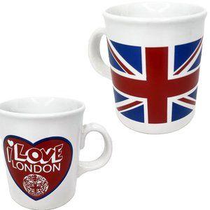 I Love London Union Jack Flag Coffee Mug England